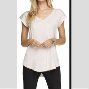 White Satin top / blouse